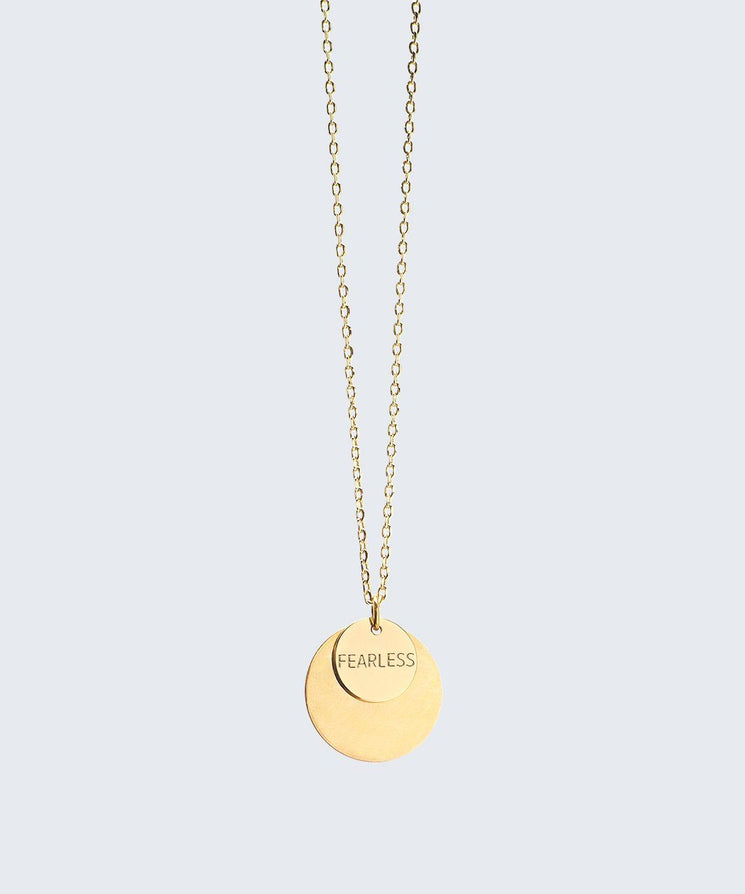 Delicate Duo Necklace Necklaces The Giving Keys FEARLESS Gold