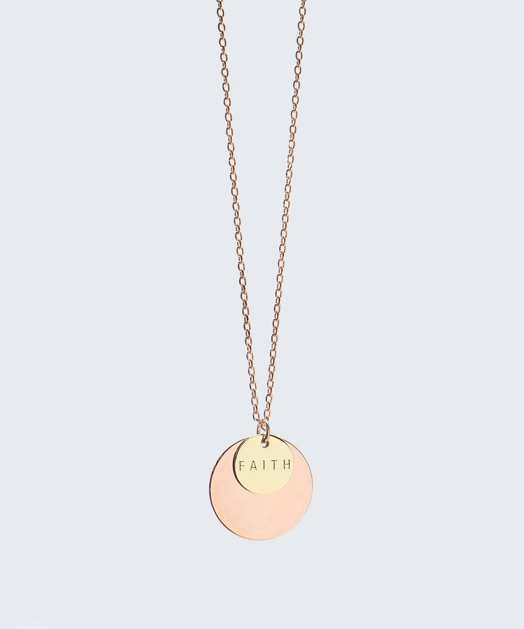 Delicate Duo Necklace Necklaces The Giving Keys FAITH Rose Gold