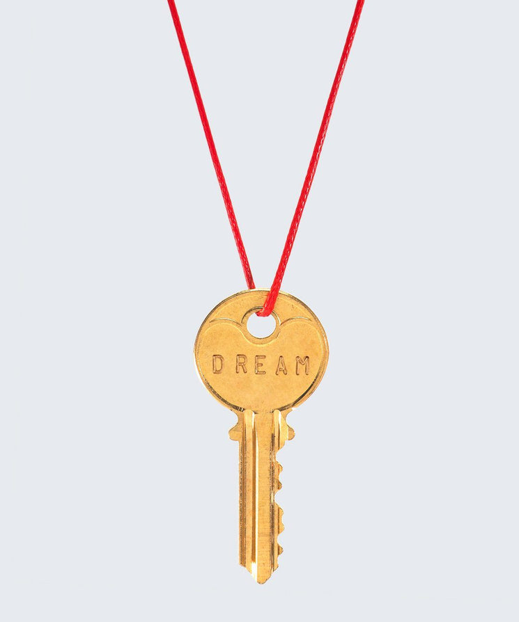 Red Strand Classic Key Necklace The Giving Keys DREAM GOLD