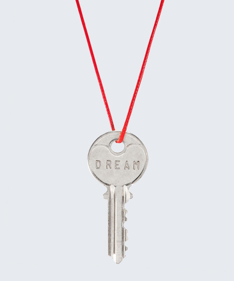 Red Strand Classic Key Necklace The Giving Keys DREAM SILVER