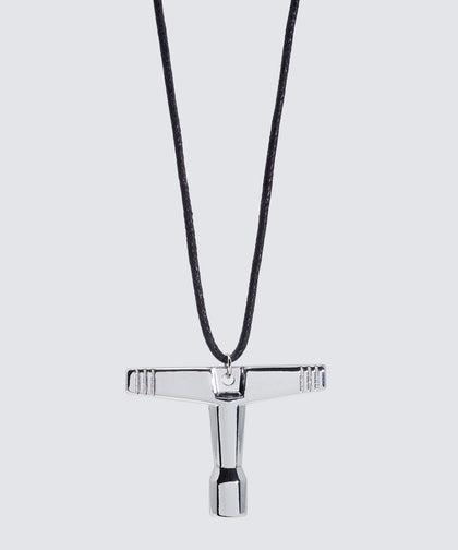 Josh Drum Key Cord Necklace Necklaces The Giving Keys Black