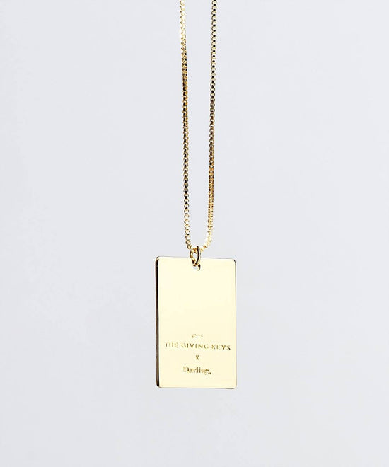 Darling Pendant Necklace in Gold Necklaces The Giving Keys