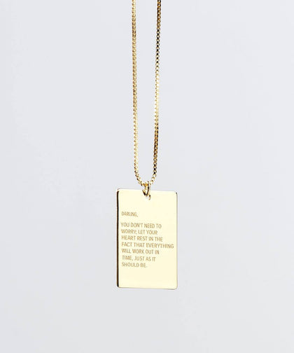 Darling Pendant Necklace in Gold Necklaces The Giving Keys Gold