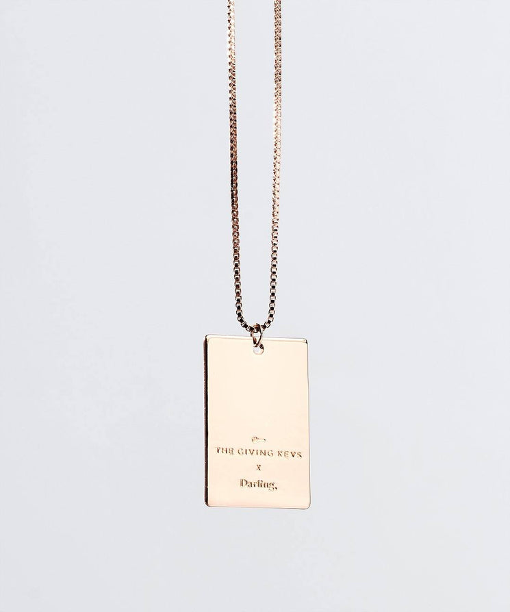 Darling Pendant Necklace in Rose Gold Necklaces The Giving Keys