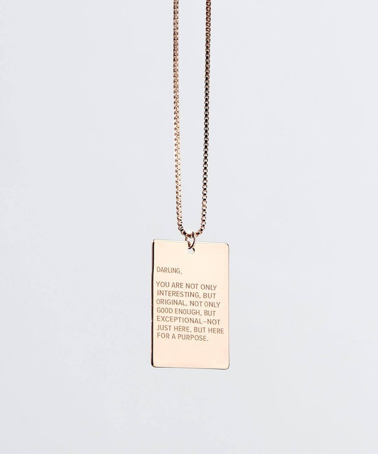 Darling Pendant Necklace in Rose Gold Necklaces The Giving Keys Rose Gold
