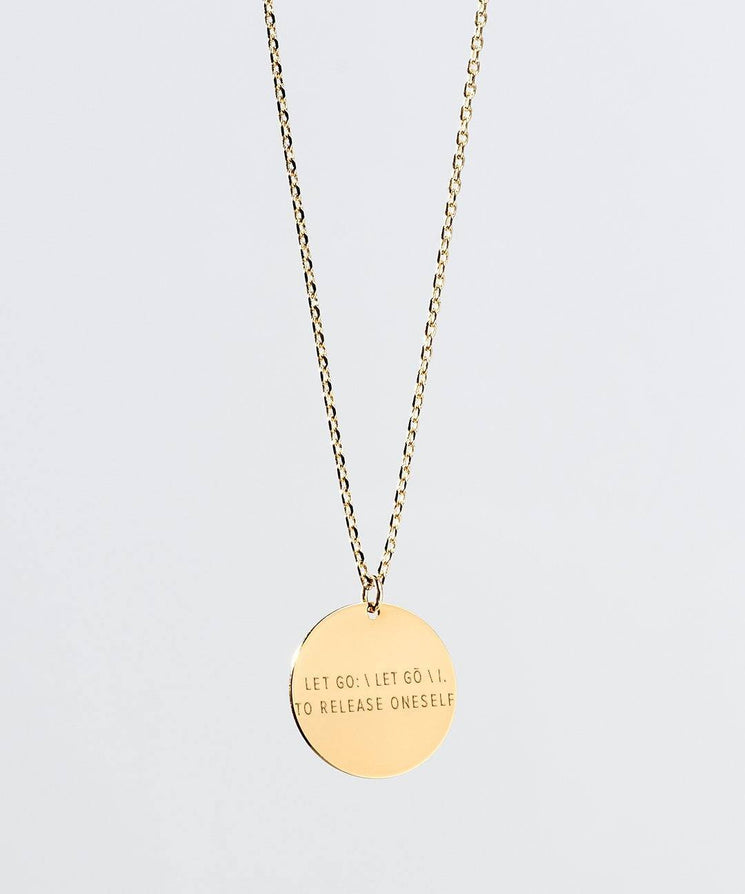LET GO Definition Disc XL Necklace Necklaces The Giving Keys LET GO Gold
