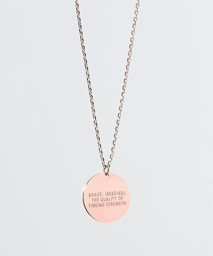Definition Disc Necklace Necklaces The Giving Keys BRAVE Rose Gold