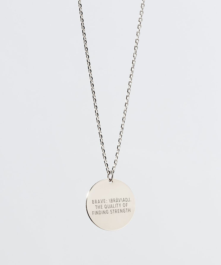 Definition Disc Necklace Necklaces The Giving Keys BRAVE Silver
