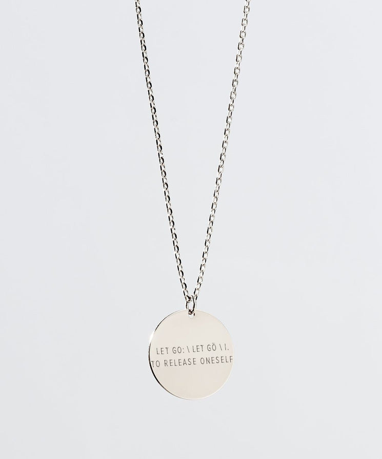 LET GO Definition Disc XL Necklace Necklaces The Giving Keys LET GO Silver