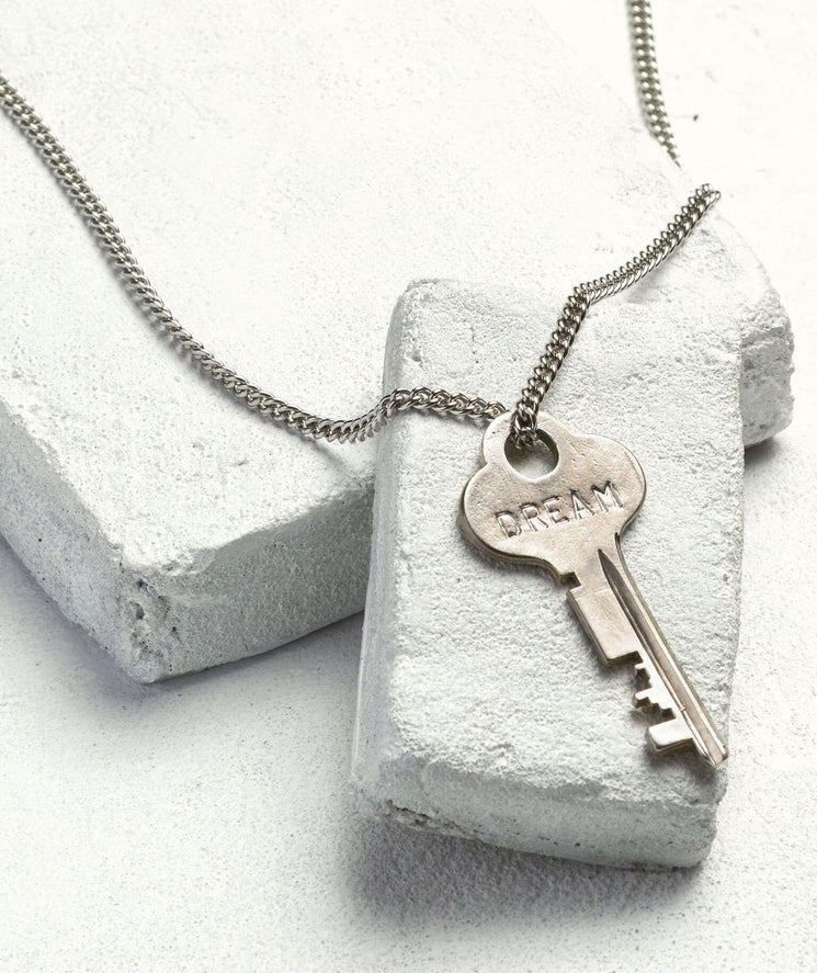 Silver Classic Key Necklace Necklaces The Giving Keys DREAM Silver
