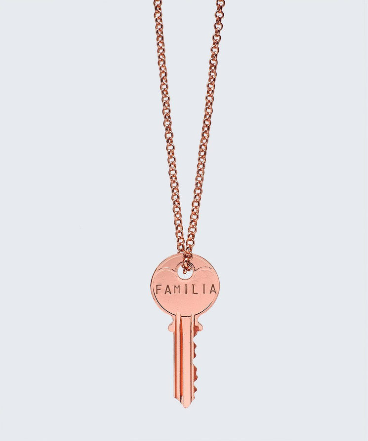 WORDAFUL Classic Key Necklace Necklaces The Giving Keys FAMILIA ROSE GOLD