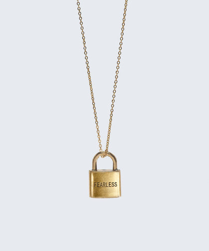Fearless Padlock Necklace The Giving Keys