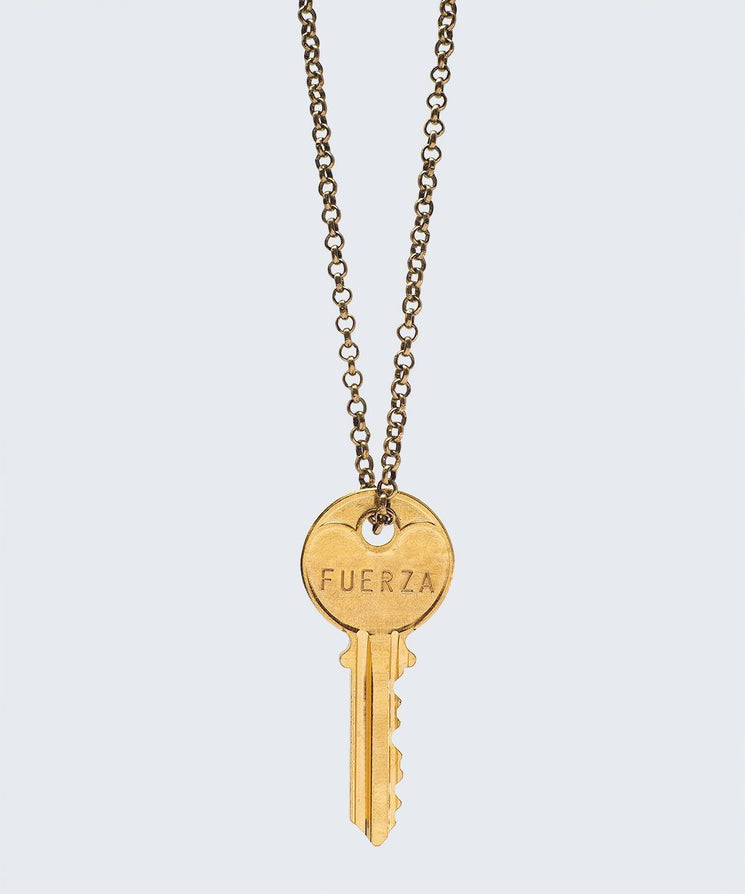 WORDAFUL Classic Key Necklace Necklaces The Giving Keys FUERZA GOLD