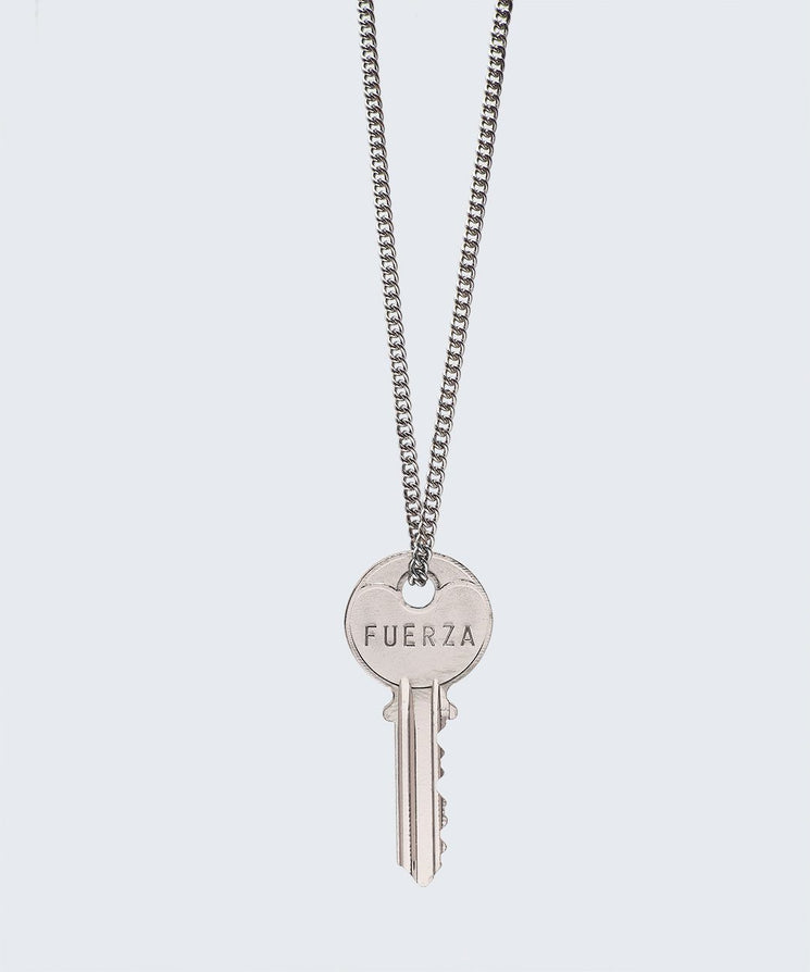 WORDAFUL Classic Key Necklace Necklaces The Giving Keys FUERZA SILVER