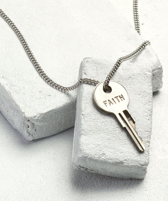 Silver Classic Key Necklace Necklaces The Giving Keys FAITH Silver