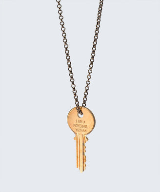I Am a Powerful Woman Classic Key Necklace Necklaces The Giving Keys I AM A POWERFUL WOMAN GOLD