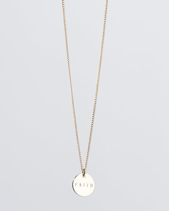 FEARLESS Small Disc Pendant Necklace Necklaces The Giving Keys
