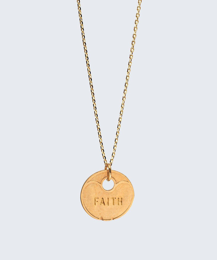 Lucky Coin Dainty Necklace Necklaces The Giving Keys FAITH GOLD
