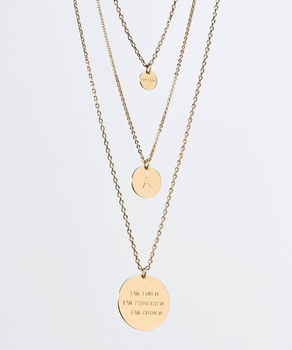 CUSTOM Gratitude Layered Disc Necklace Necklaces The Giving Keys CUSTOM GOLD