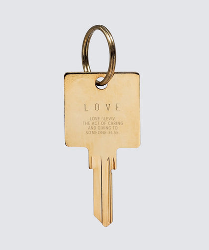 LOVE DEFINITION Keychain Key Chain The Giving Keys LOVE DEFINITION GOLD
