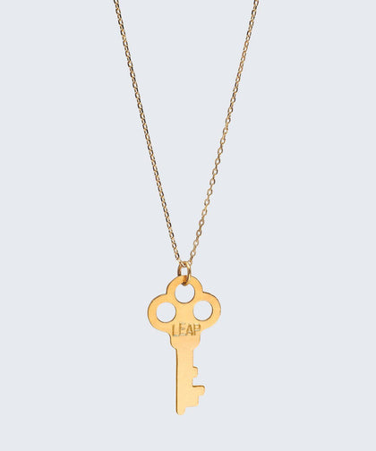 Ornate LEAP Key Necklace Necklaces The Giving Keys LEAP Gold