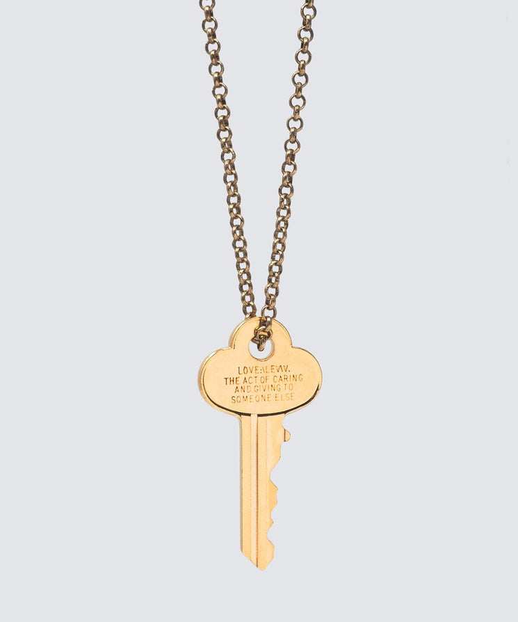 LOVE DEFINITION Classic Key Necklace Necklaces The Giving Keys LOVE DEFINITION GOLD