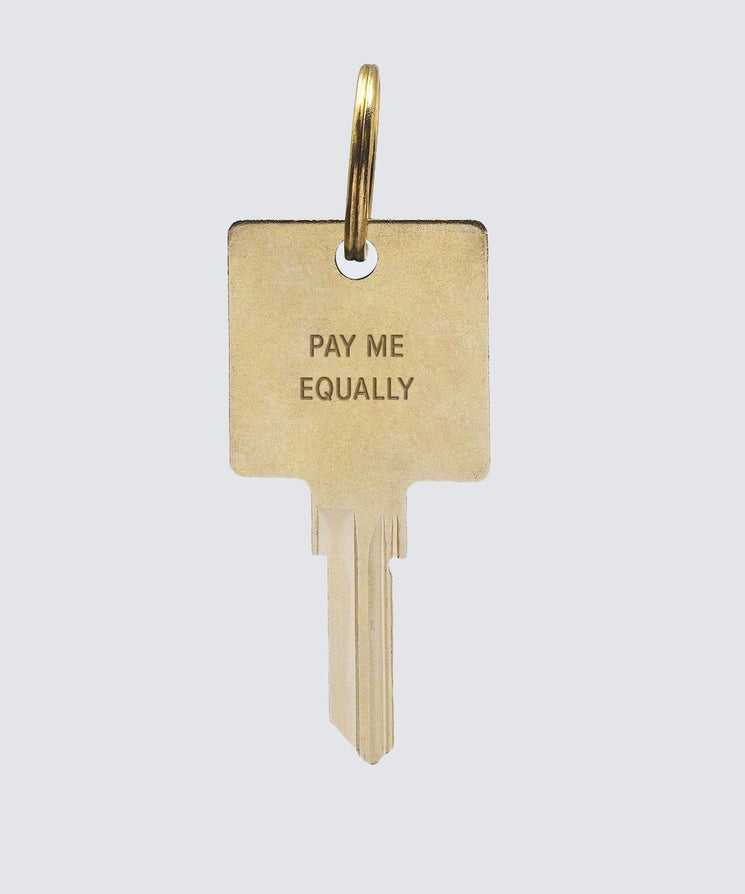 Pay Me Equally Keychain Key Chain The Giving Keys PAY ME EQUALLY GOLD