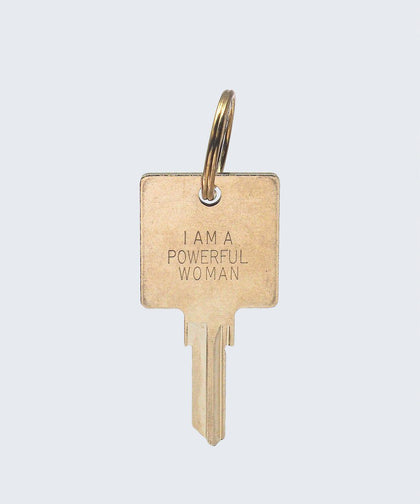 I Am a Powerful Woman Keychain Key Chain The Giving Keys I AM A POWERFUL WOMAN GOLD