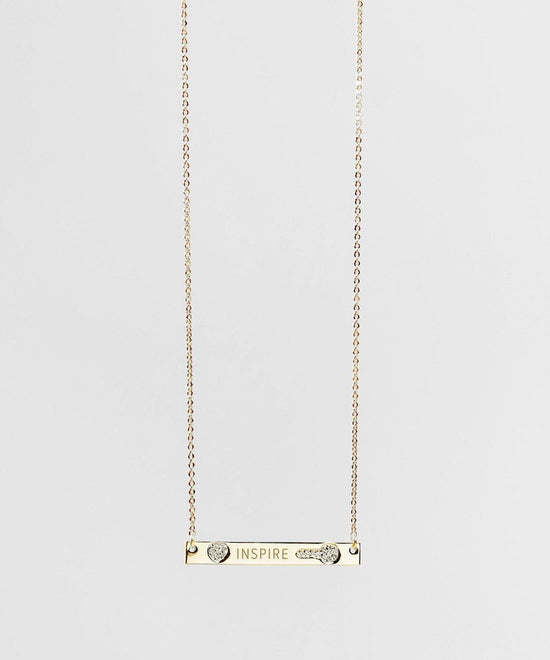 Teacher's Day Pave Bar Necklace Necklaces The Giving Keys INSPIRE GOLD