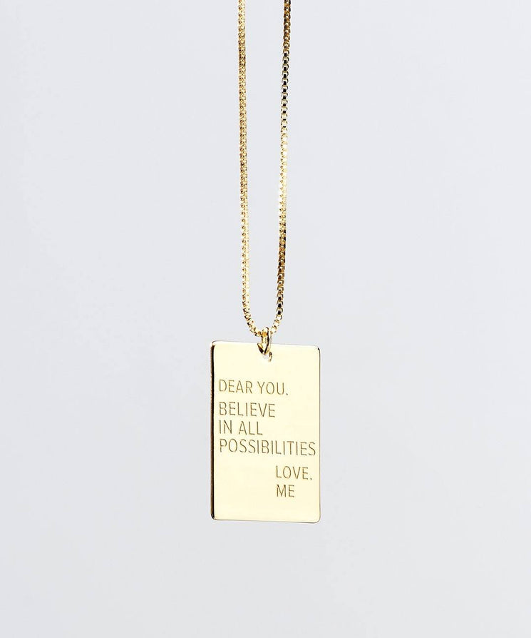 Resolution Necklace in Gold Necklaces The Giving Keys Gold