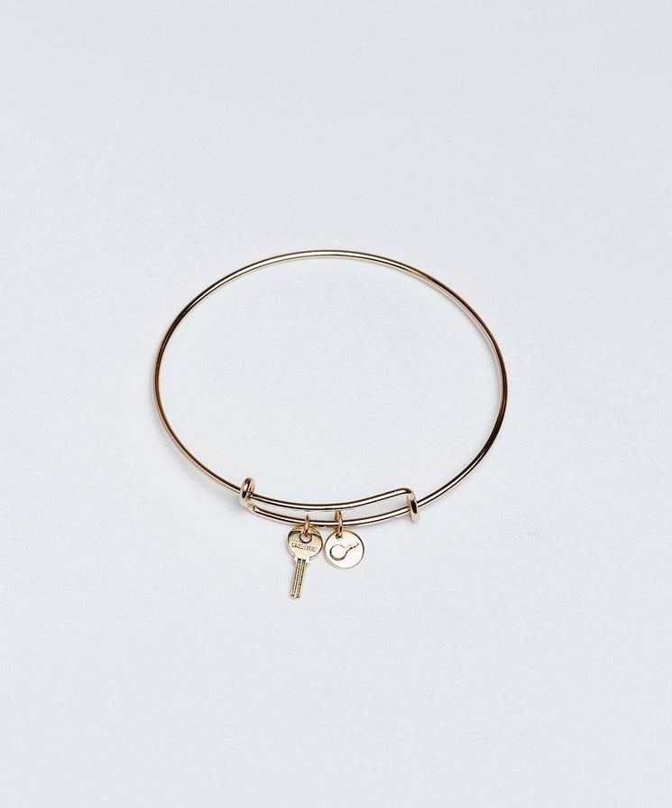 Gold Petite Key Bangle Bracelet Bracelets The Giving Keys BREATHE GOLD