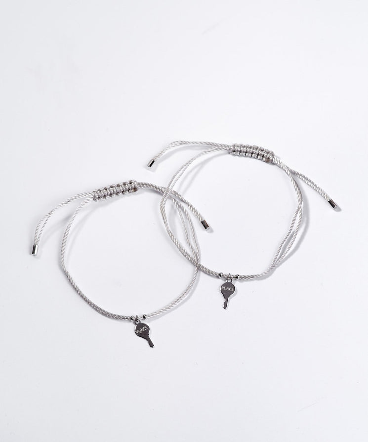 Silver Key Color Strand Bracelet Sets Bracelets The Giving Keys Word Assigned By Color Gray/Peace