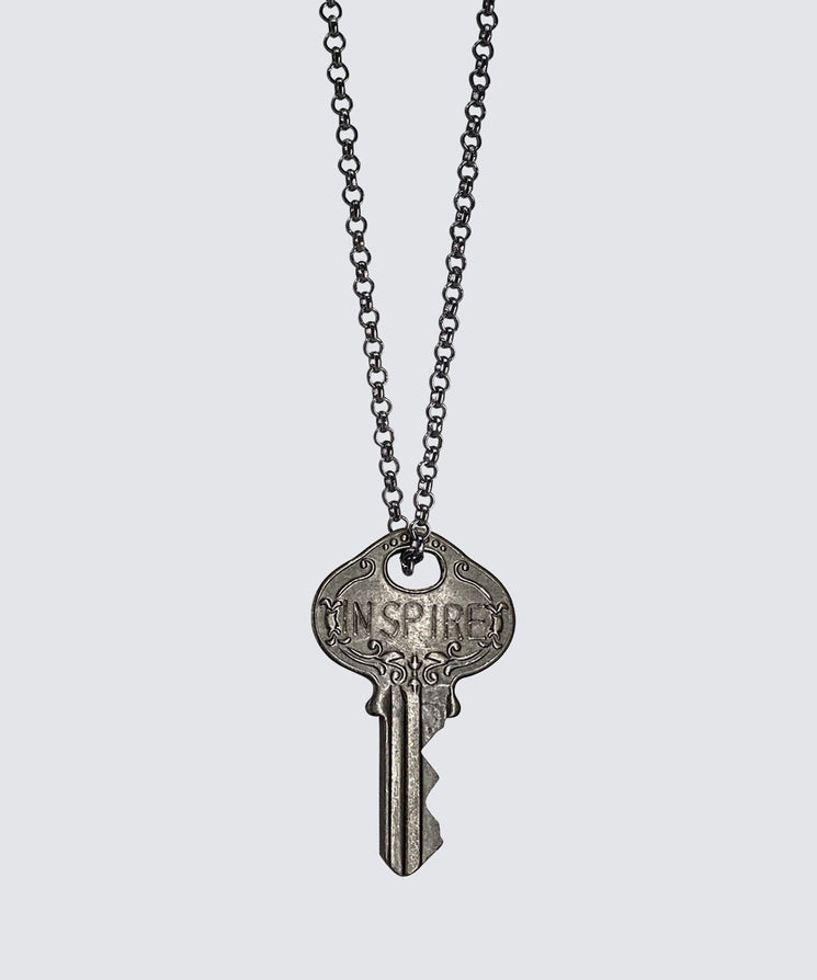 Hematite Classic Key Necklace Necklaces The Giving Keys
