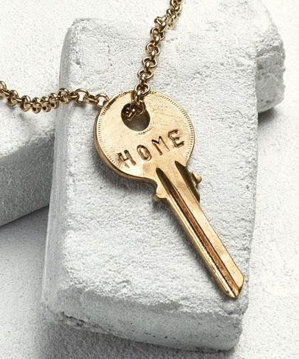 HOME Classic Key Necklace The Giving Keys GOLD