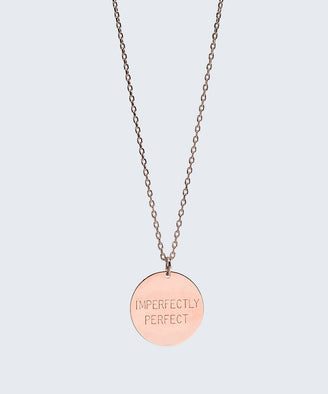 Love Your Flawz Disc Necklace Necklaces The Giving Keys IMPERFECTLY PERFECT ROSE GOLD