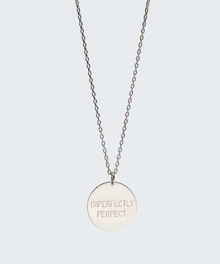 IMPERFECTLY PERFECT Disc Necklace Necklaces The Giving Keys IMPERFECTLY PERFECT SILVER