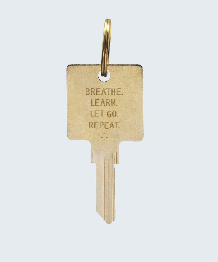 Wilder Poetry Keychain Key Chain The Giving Keys BREATHE GOLD
