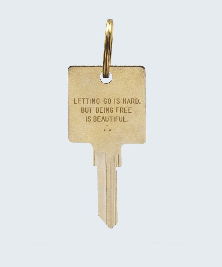 Wilder Poetry Keychain Key Chain The Giving Keys BEING FREE GOLD