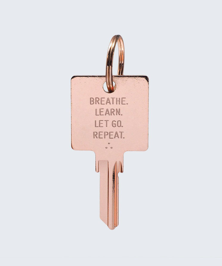 Wilder Poetry Keychain Key Chain The Giving Keys BREATHE ROSE GOLD