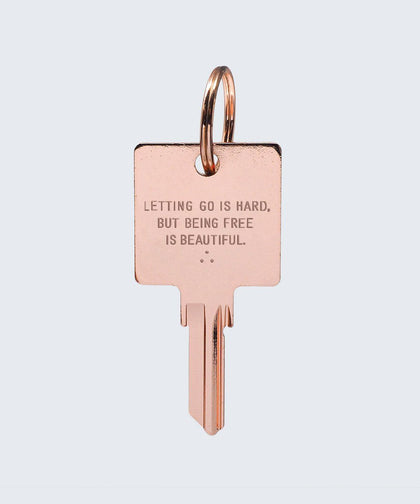 Wilder Poetry Keychain Key Chain The Giving Keys BEING FREE ROSE GOLD