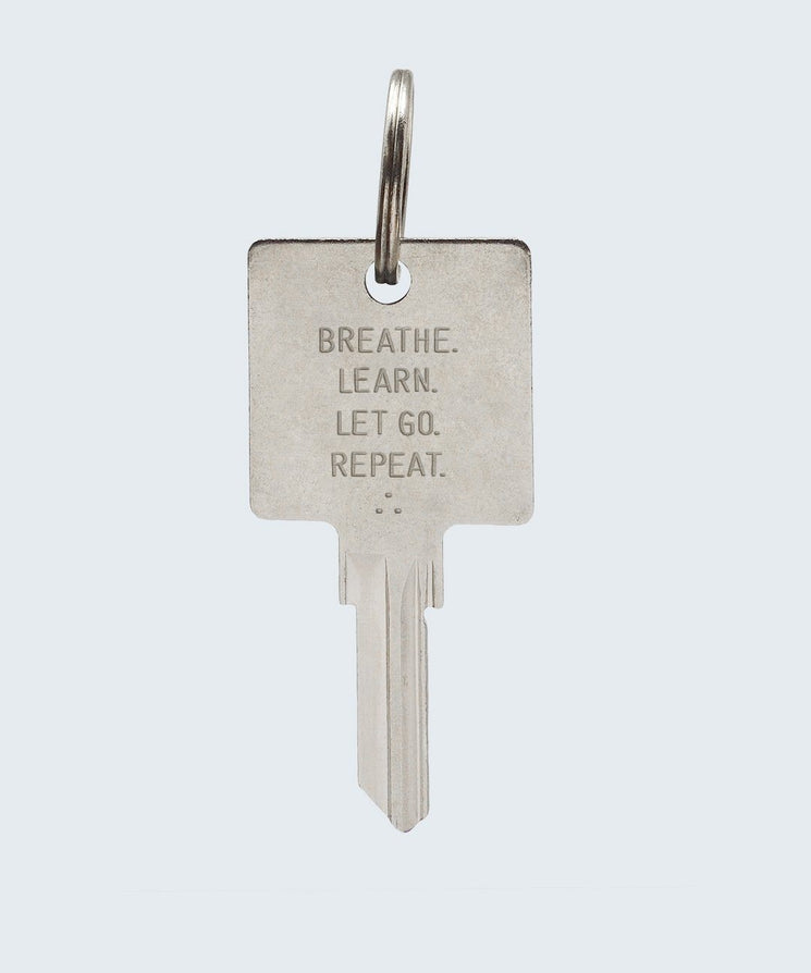 Wilder Poetry Keychain Key Chain The Giving Keys BREATHE SILVER