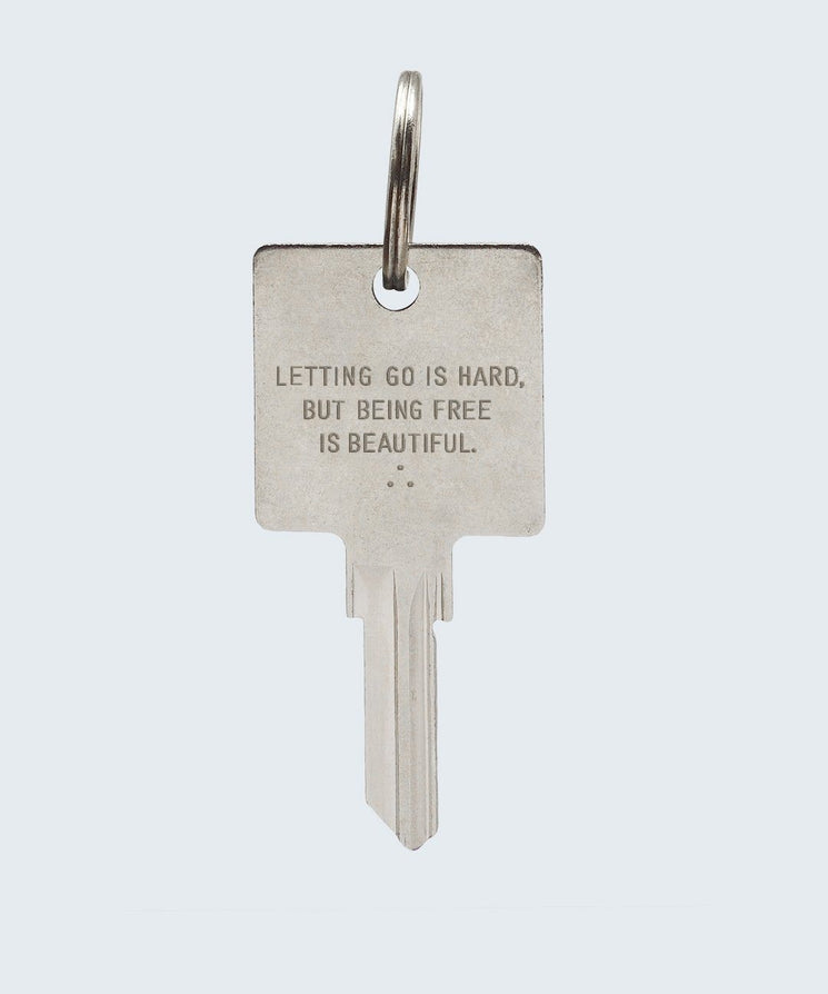 Wilder Poetry Keychain Key Chain The Giving Keys BEING FREE SILVER