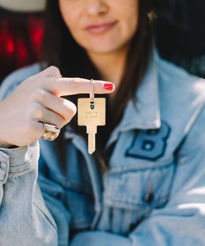 Dare To Be Brave Keychain Key Chain The Giving Keys | Lifestyle
