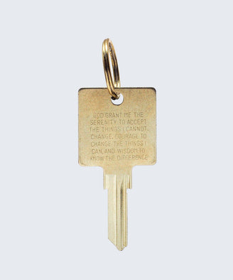Serenity Prayer Keychain Key Chain The Giving Keys SERENITY PRAYER Gold
