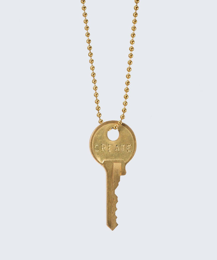 Vintage Classic Key Necklace Necklaces The Giving Keys CREATE GOLD