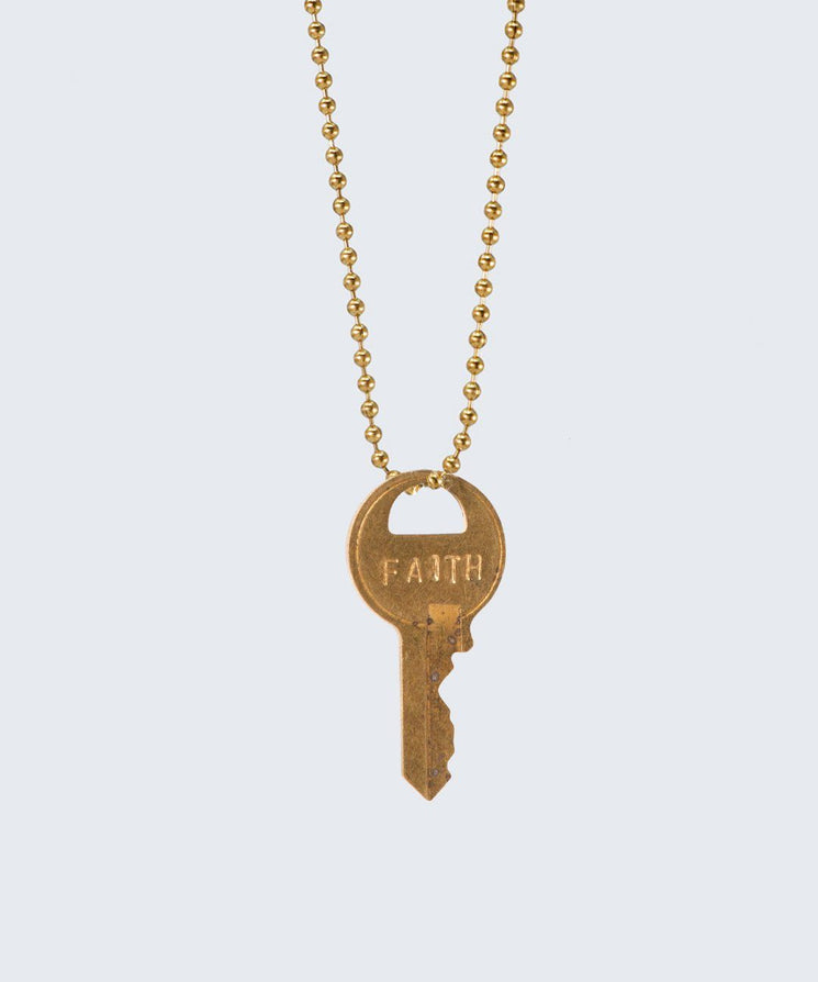 Vintage Classic Key Necklace Necklaces The Giving Keys FAITH GOLD