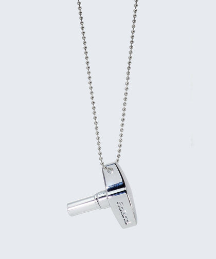 Nicole Drum Key Ball Chain Necklace Necklaces The Giving Keys Silver