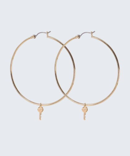 Large Thin Hoop Earrings The Giving Keys Large Gold