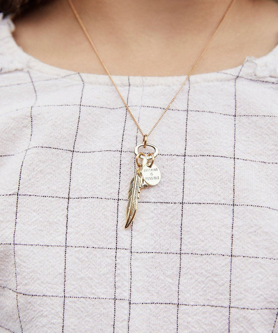 Anything Is Possible Key Pendant Necklace Inspired by Disney's Dumbo Necklaces The Giving Keys