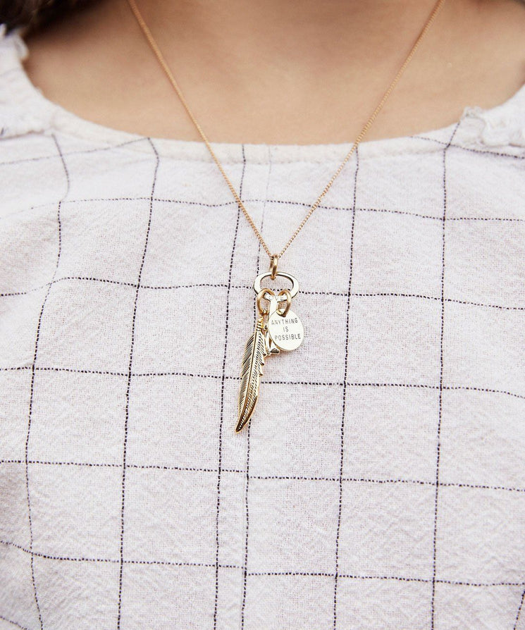 Anything Is Possible Key Pendant Necklace Inspired by Disney's| Lifestyle Dumbo Necklaces The Giving Keys